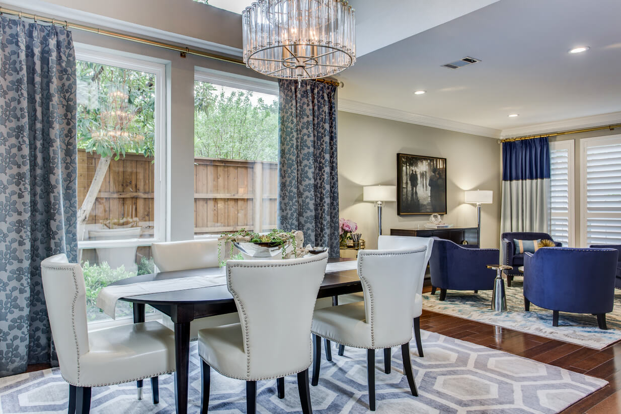 Project Rive Formal Dining And Living Room Ml Interiors