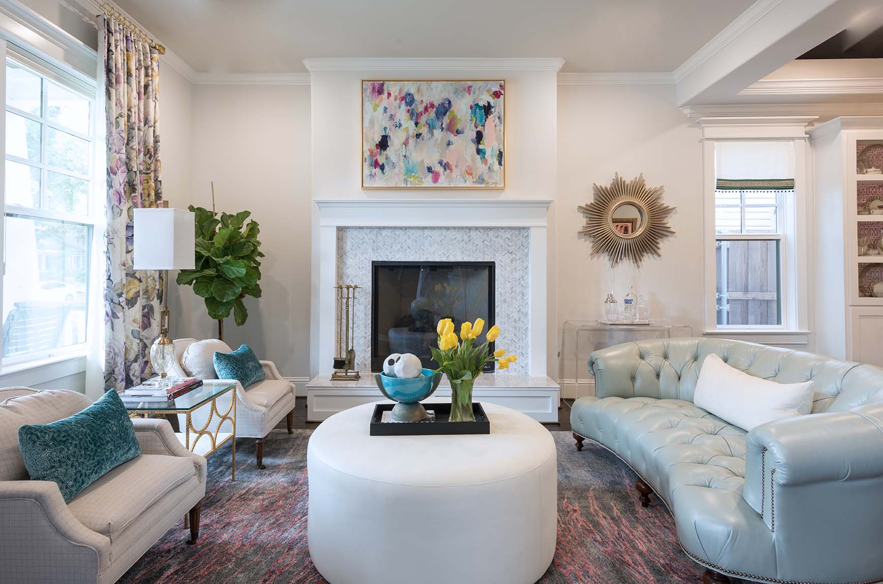 Project Miller Ave Formal Living Room ML Interiors Group Dallas Texas