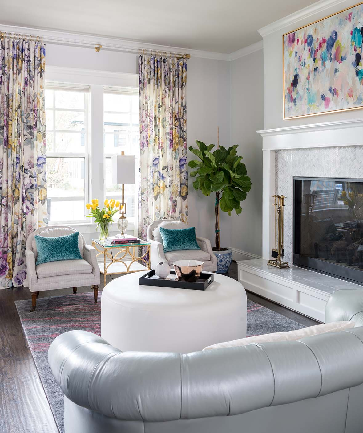 Project Miller Avenue Formal Living Room ML Interiors Group Dallas Texas