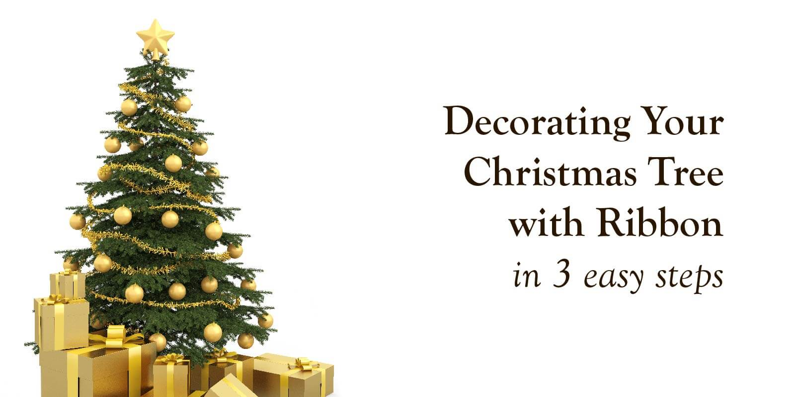 Decorating Your Christmas Tree with Ribbon