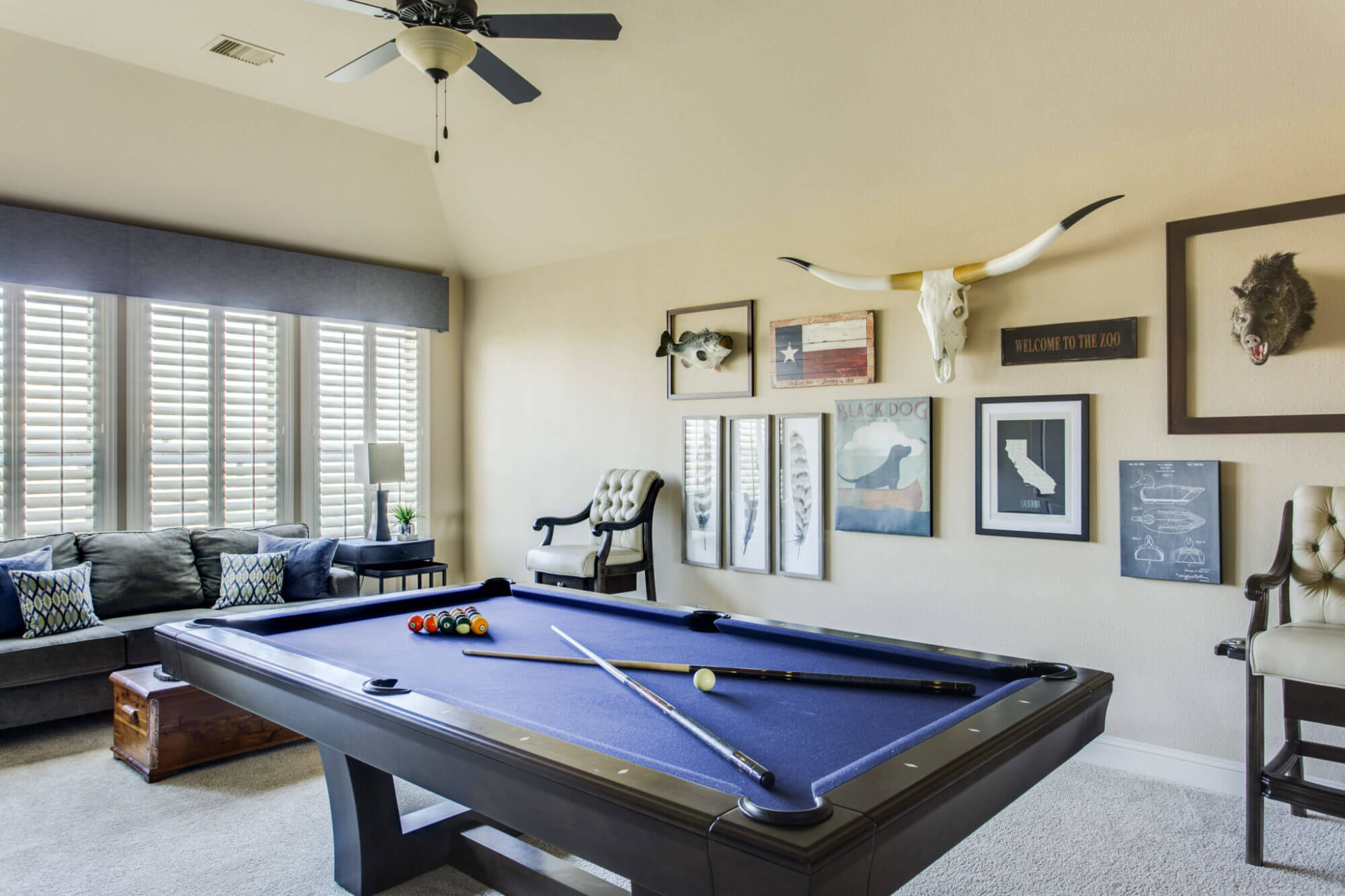 SanClementeDriveFriscoTX Michelle Lynne Interiors Group - Pool table seating