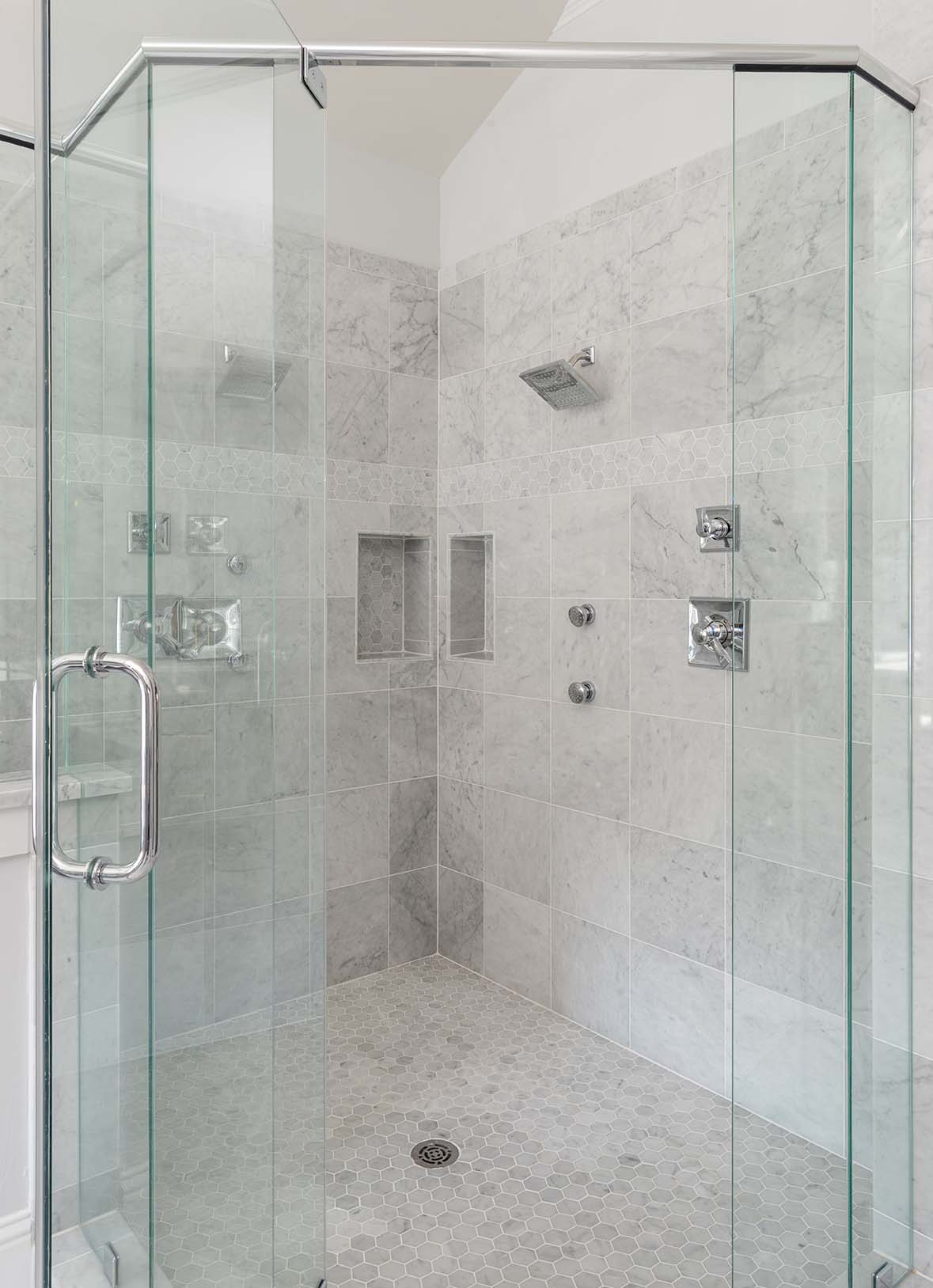 Project Miller Ave Master Shower | ML Interiors Group, Dallas, Texas ...