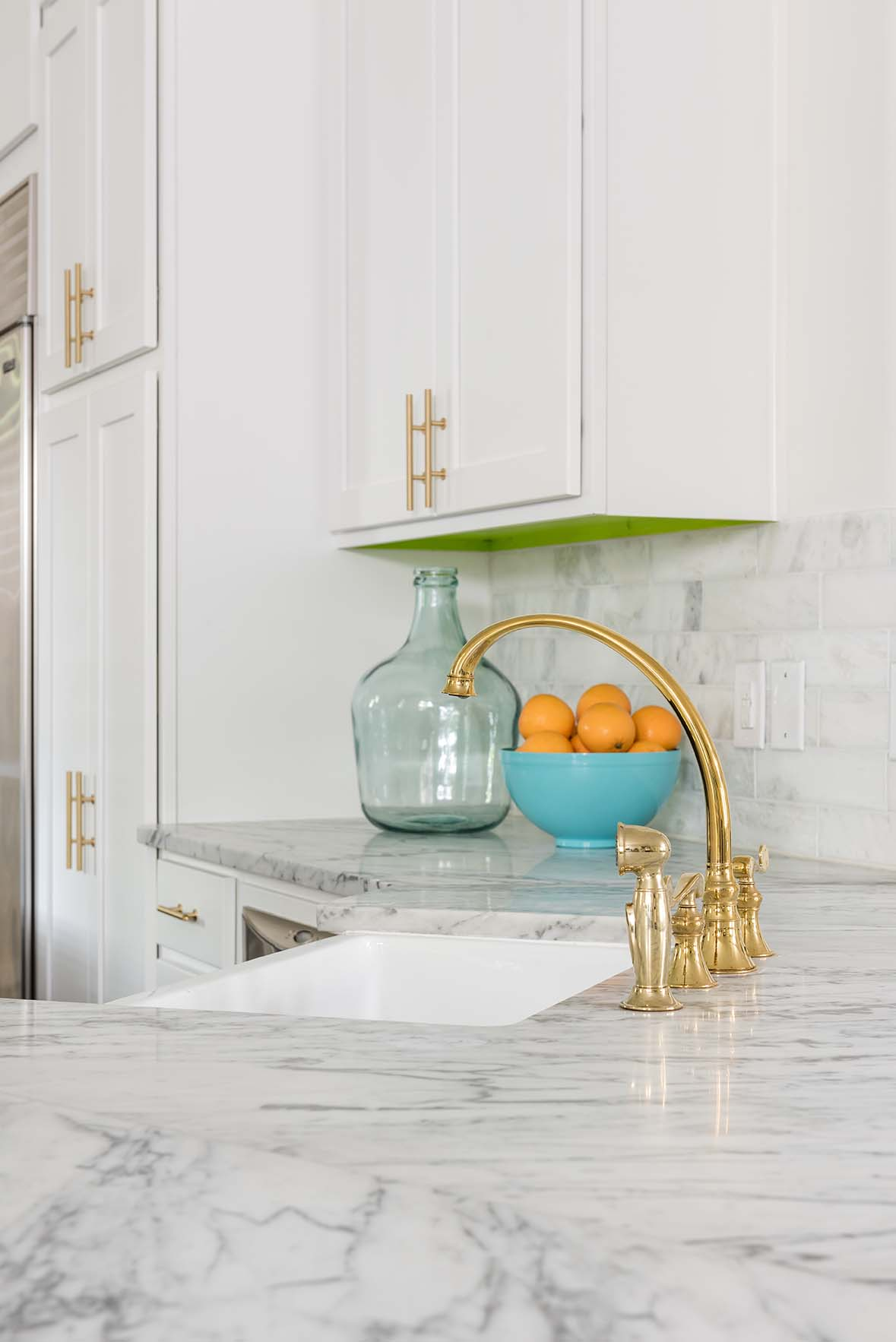 Kitchen Sinks Dallas Project tulip kitchen ml interiors group dallas texas michelle white kitchen with gold hardware marble countertops and marble subway tile backsplash ml workwithnaturefo