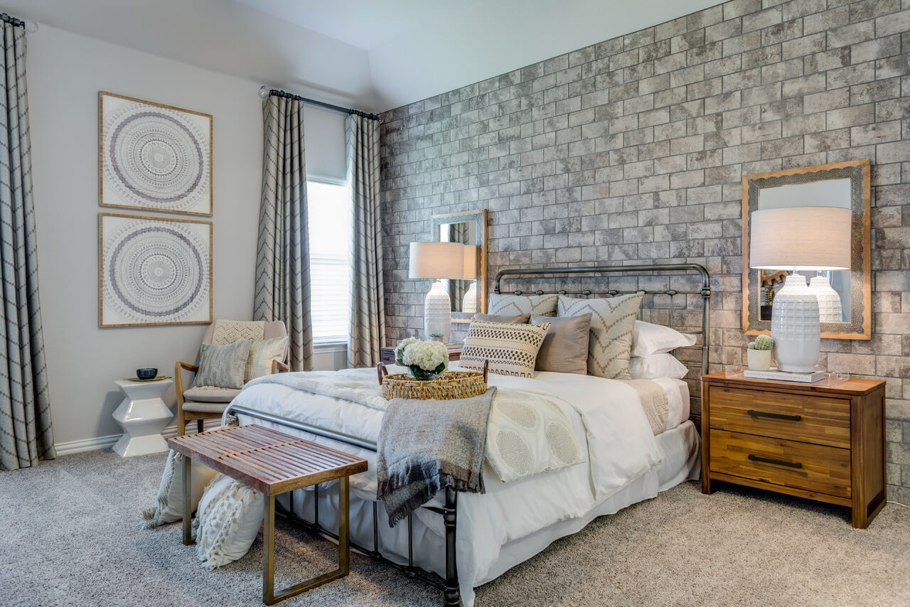 Project Llano Model Home Master Bedroom Room Ml Interiors Group Dallas Texas Michelle