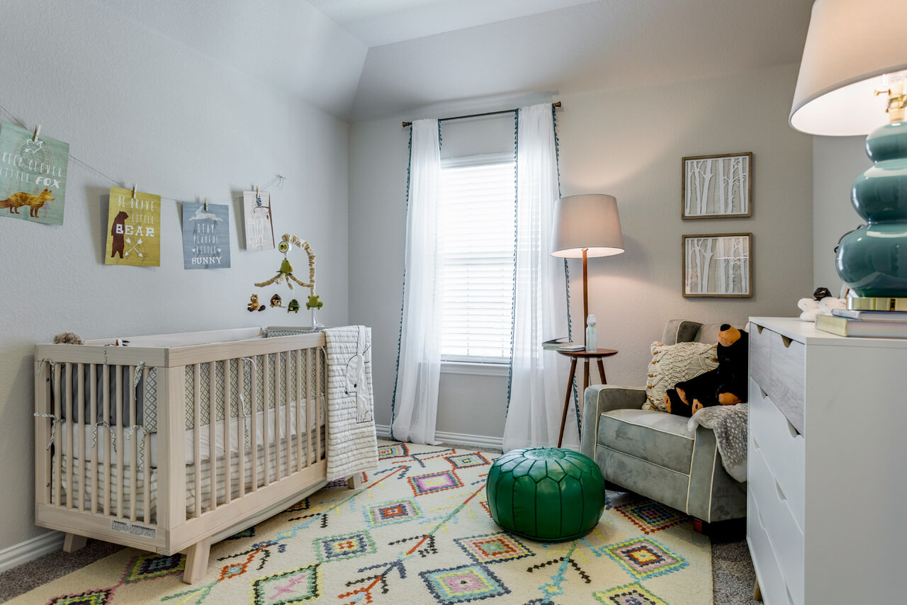 project llano model home nursery ml interiors group dallas texas