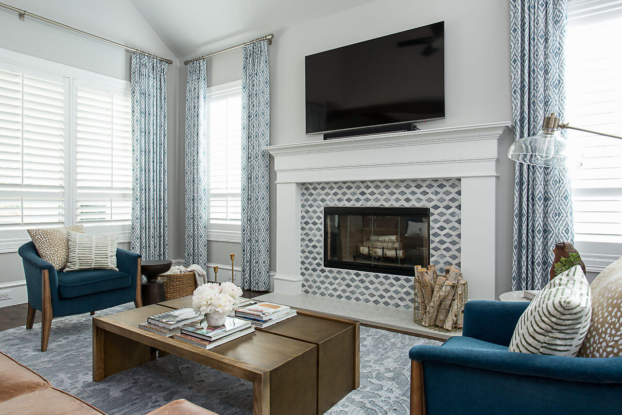 Living room design | Dallas Interior Designer | ML Interiors Group