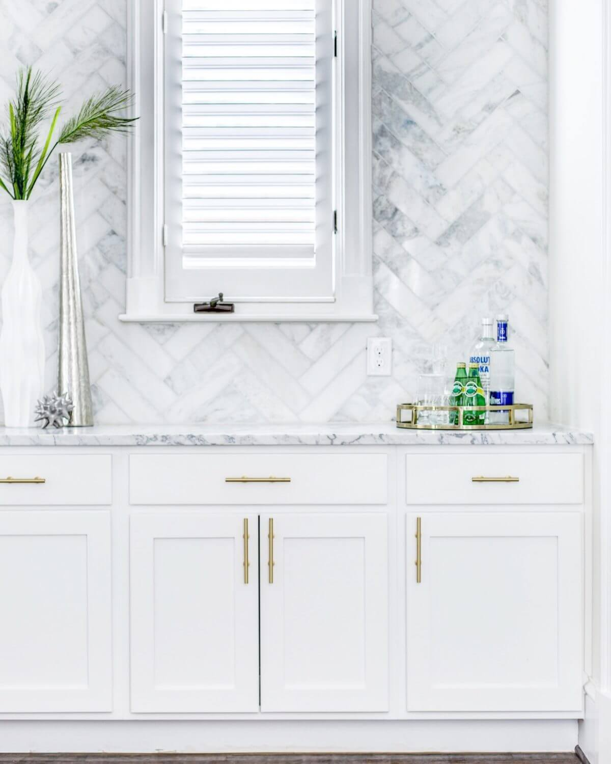 Natural Statuario marble countertop | ML Interiors Group | why NOT to use faux marble
