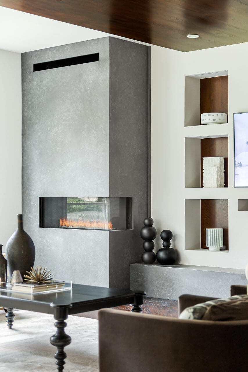 Remodeled fireplace | Design by ML Interiors Group | Dallas Interior Designer