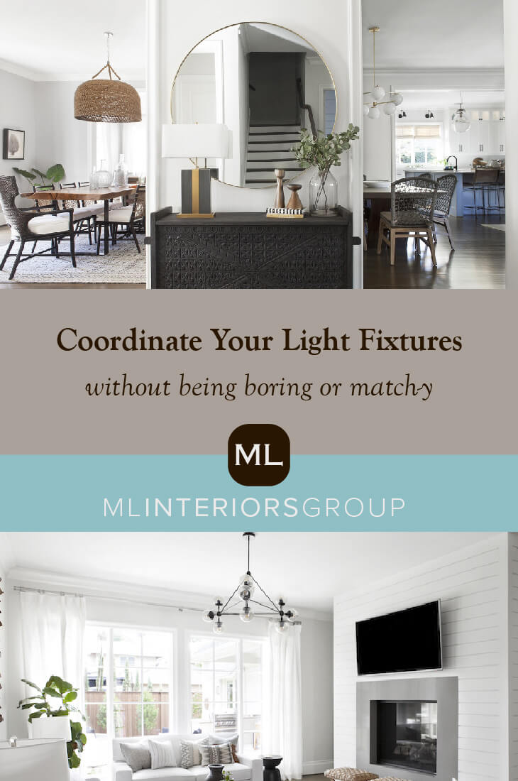 Even if lighting fixtures aren't in sight of each other, you want to make sure their style coordinates: Remember they should be cousins, not sisters. This is especially important in open-concept homes where the rooms really do flow one into the other. Let's take a look at one of our favorite projects with a specific eye toward how we addressed lighting throughout the home. Welcome to lighting case study: #ProjectSouthcrest edition.