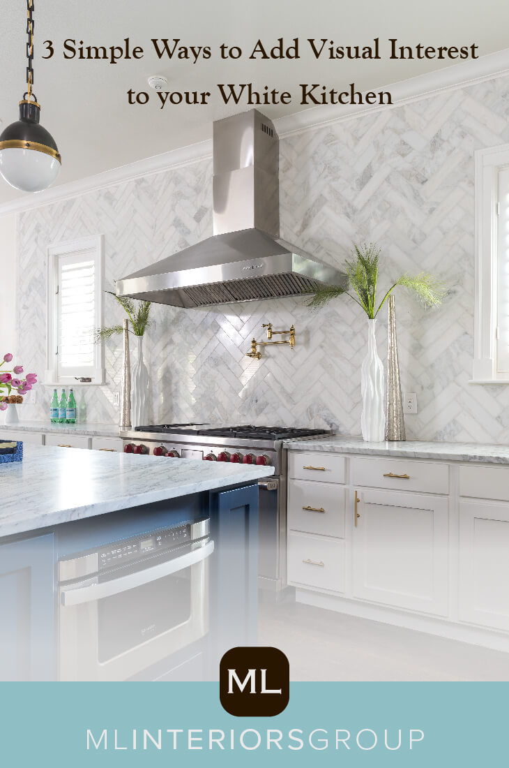 You can also see design trick play out in Project Tulip, where we painted the island a bright navy blue, one of the colors used throughout the home. The blue really pops against the otherwise white-on-white kitchen.