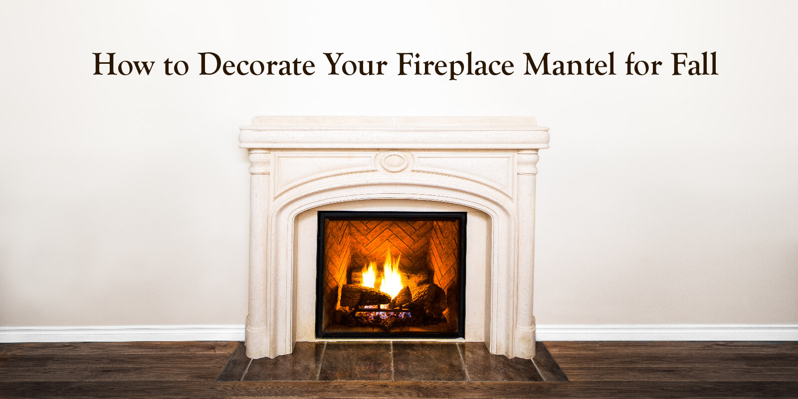 How to decorate your fireplace mantel for fall