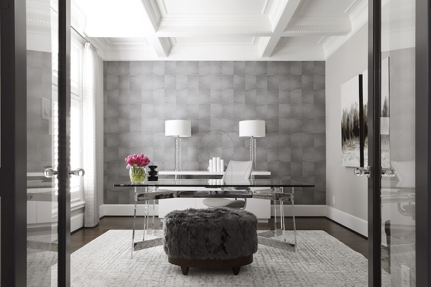 ML-Interiors-Group_Dallas-TX_How-to-Design-a-Home-Office-that-Works-as-Hard-as-You-Do_Contemporary-Home-Office-with-Glass-Doors