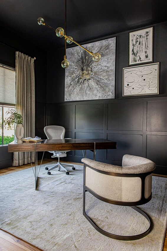 ML-Interiors-Group_Dallas-TX_How-to-Design-a-Home-Office-that-Works-as-Hard-as-You-Do_Dark-Dramatic-Home-Office